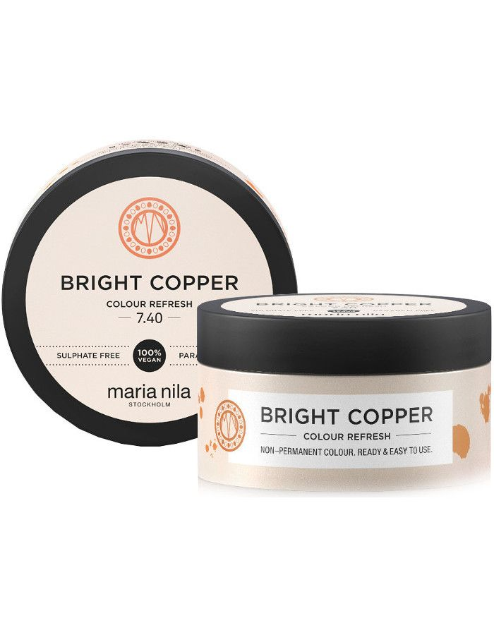 Maria Nila Colour Refresh Haarmasker 7.40 Bright Copper 100ml