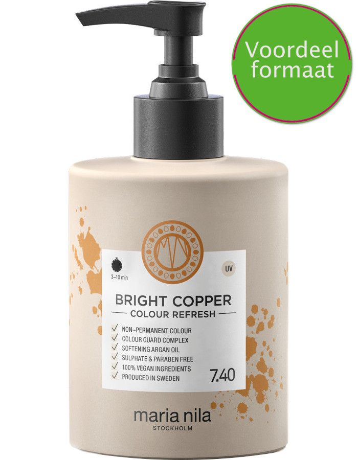 Maria Nila Colour Refresh Haarmasker 7.40 Bright Copper 300ml