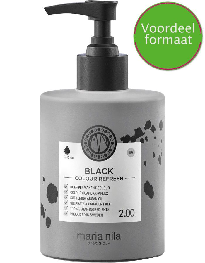 Maria Nila Colour Refresh Haarmasker 2.00 Black 300ml