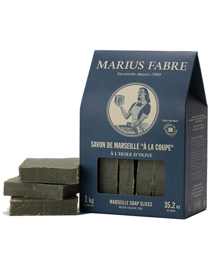 Marius Fabre Marseille 100% Olijfzeep Ruwe Plakken 1000gr