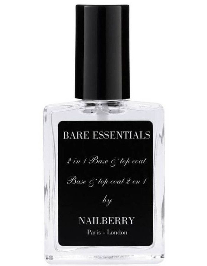 Nailberry 12-Free Bare Essentials Base & Top Coat 15ml