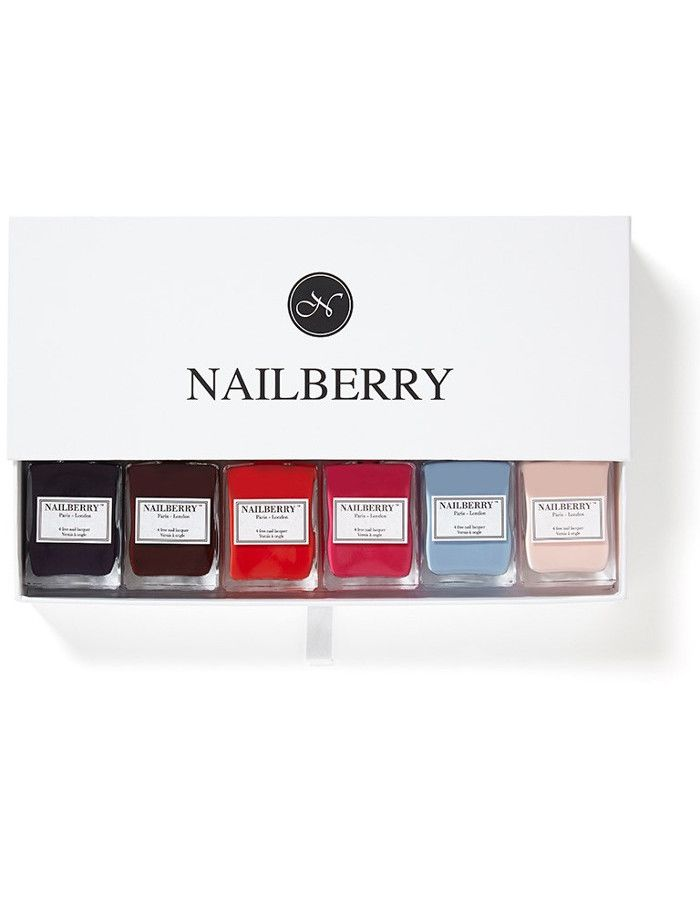 Nailberry Giftbox Voor 6 Flesjes Nagellak 20ml