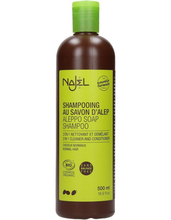 Najel Aleppo Zeep 2 In 1 Shampoo Normaal Haar 500ml