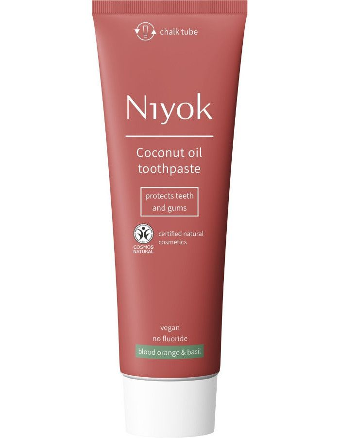 Niyok Coconut Oil Toothpaste Blood Orange & Basil 75ml