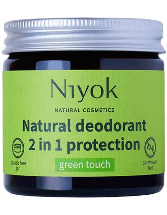 Niyok Natural Deodorant 2 in 1 Protection Green Touch 40ml