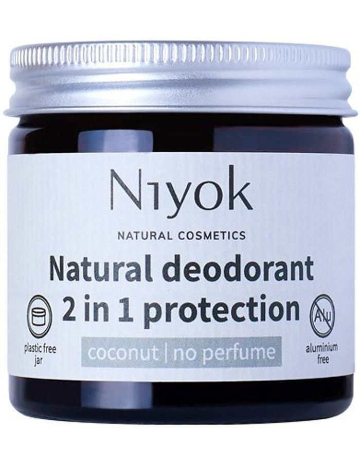 Niyok Natural Deodorant 2 in 1 Protection No Perfume 40ml