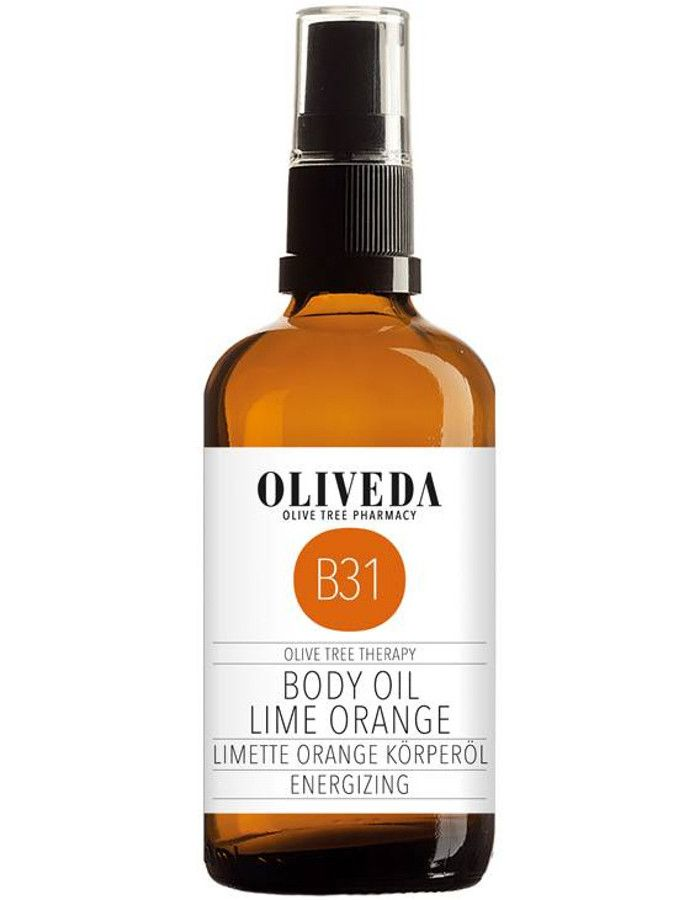 Oliveda B31 Energizing Body Oil Lime Orange 100ml