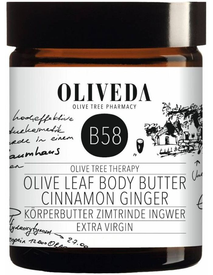 Oliveda B58 Olive Leaf Body Butter Cinnamon Ginger 180ml