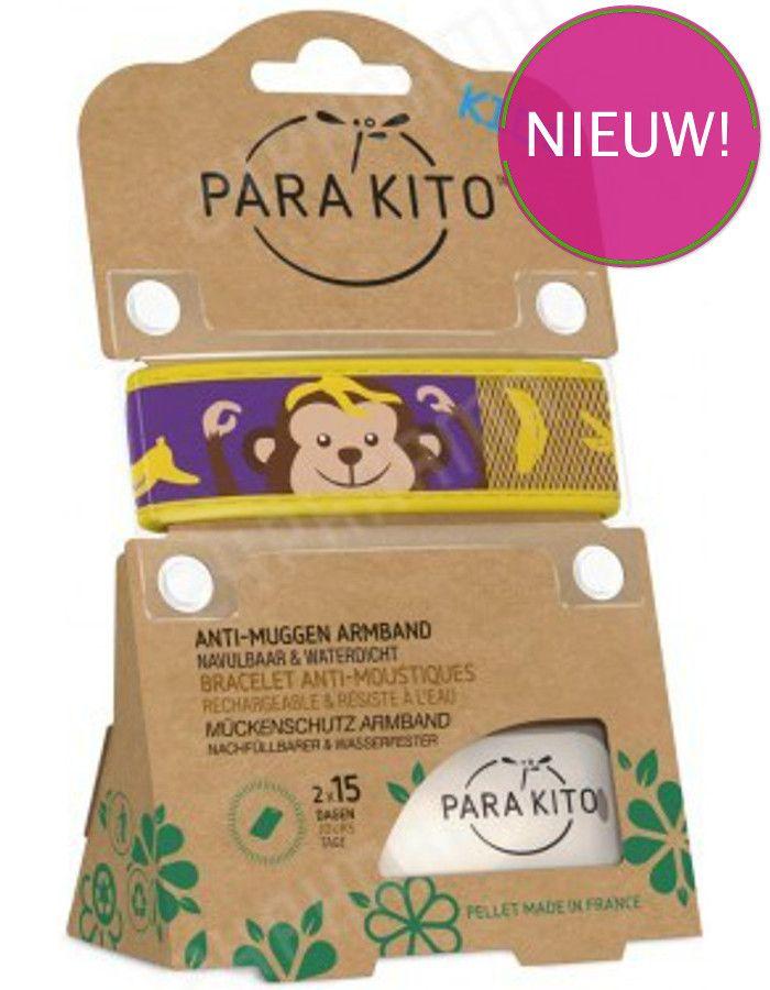 Parakito Polsband Natuurlijke Bescherming Tegen Muggen Kids Aap