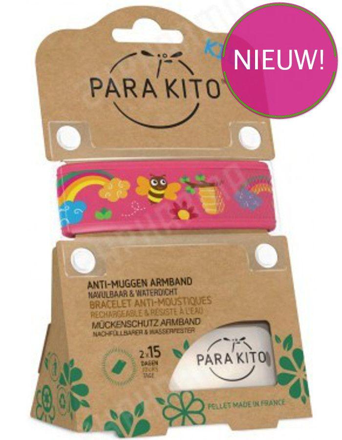 Parakito Polsband Natuurlijke Bescherming Tegen Muggen Kids Bij