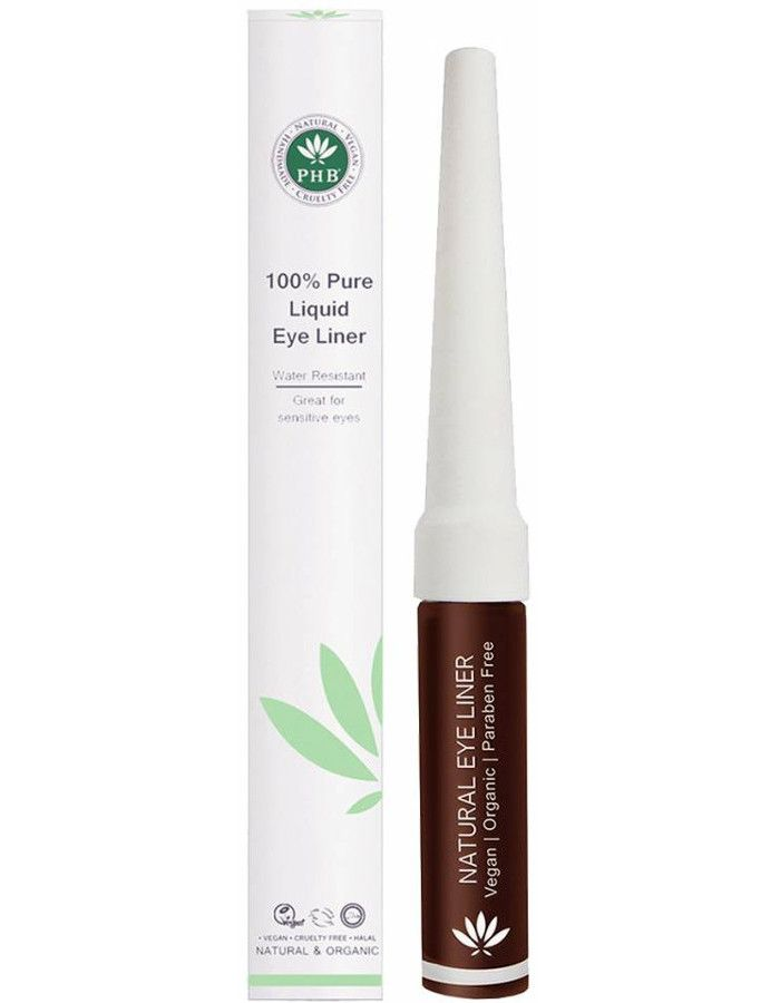 PHB Ethical Beauty 100% Pure Liquid Eyeliner Waterproof Bruin