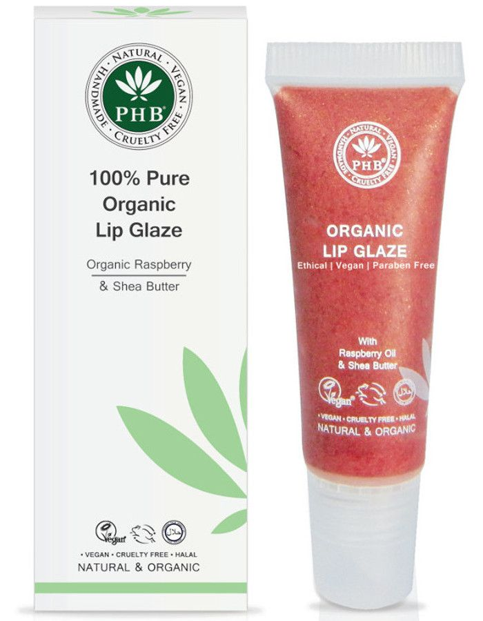 PHB Ethical Beauty 100% Pure Organic Lip Glaze Cranberry