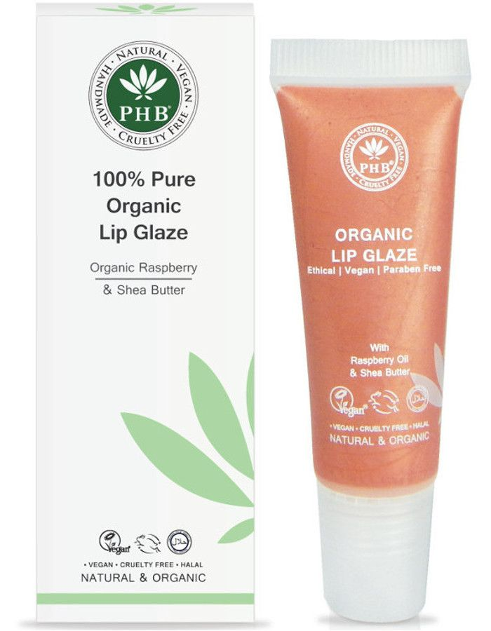 PHB Ethical Beauty 100% Pure Organic Lip Glaze Peach