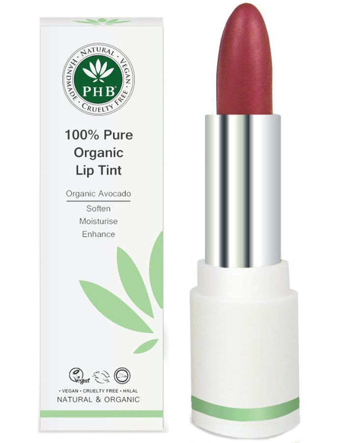 PHB Ethical Beauty 100% Pure Organic Lip Tint Mulberry