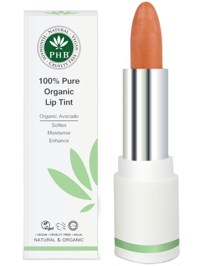 PHB Ethical Beauty 100% Pure Organic Lip Tint Peach