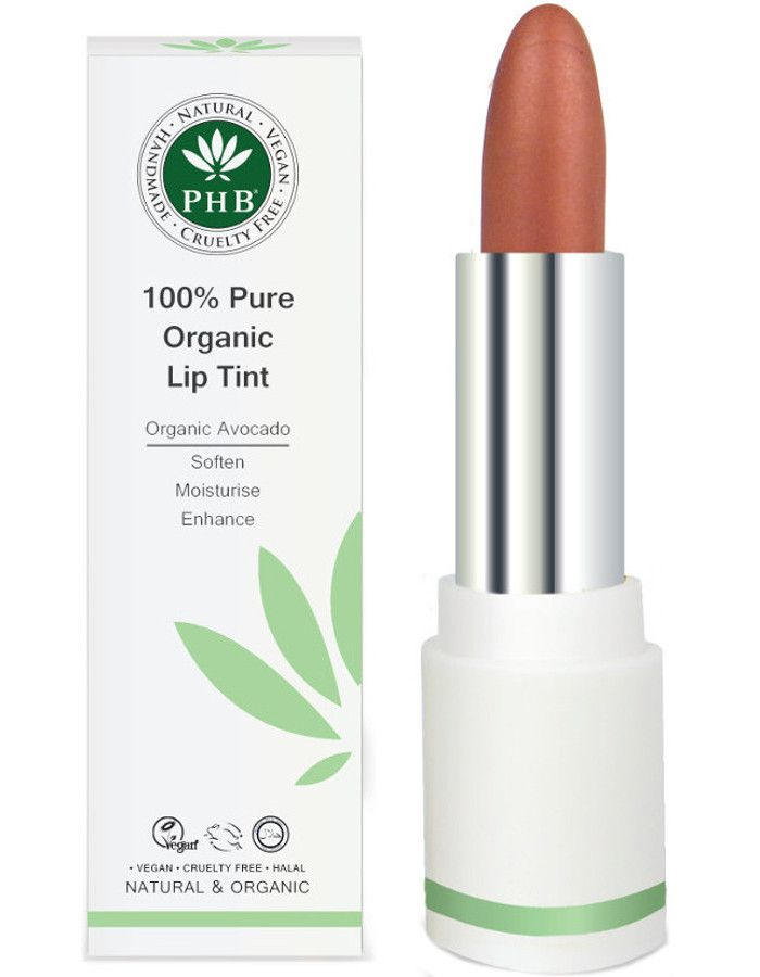 PHB Ethical Beauty 100% Pure Organic Lip Tint Petal