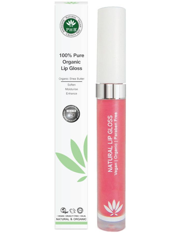 PHB Ethical Beauty 100% Pure Organic Lipgloss Camellia