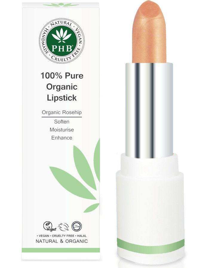 PHB Ethical Beauty 100% Pure Organic Lipstick Apricot