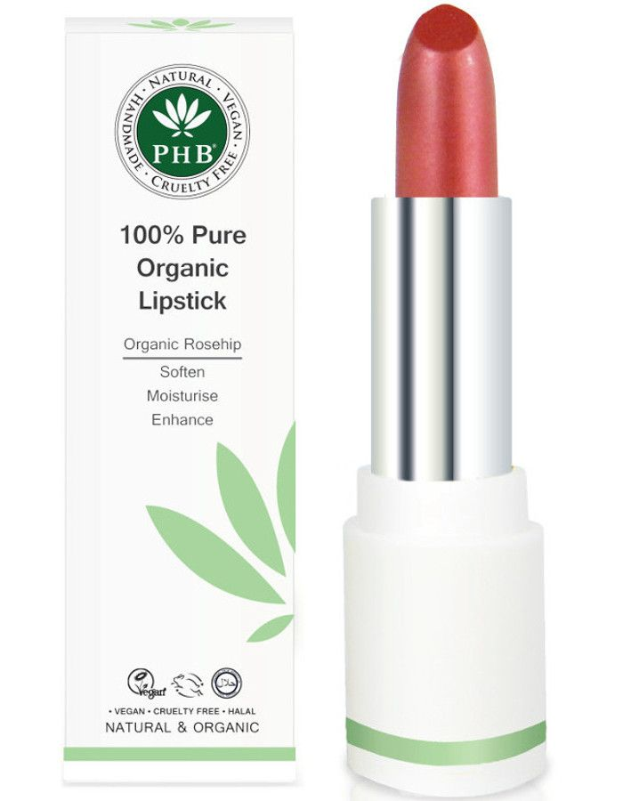 PHB Ethical Beauty 100% Pure Organic Lipstick Cranberry