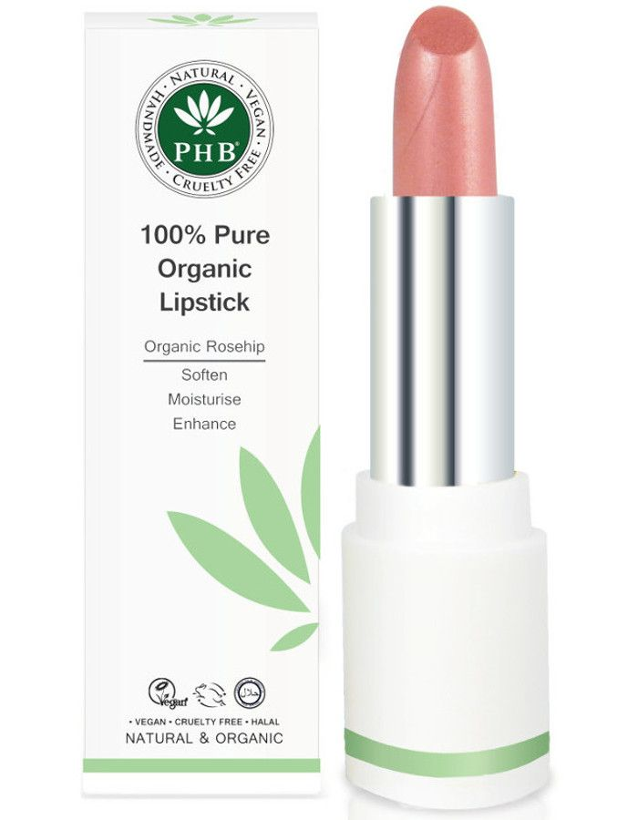 PHB Ethical Beauty 100% Pure Organic Lipstick Petal