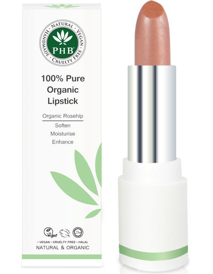 PHB Ethical Beauty 100% Pure Organic Lipstick Tea Rose