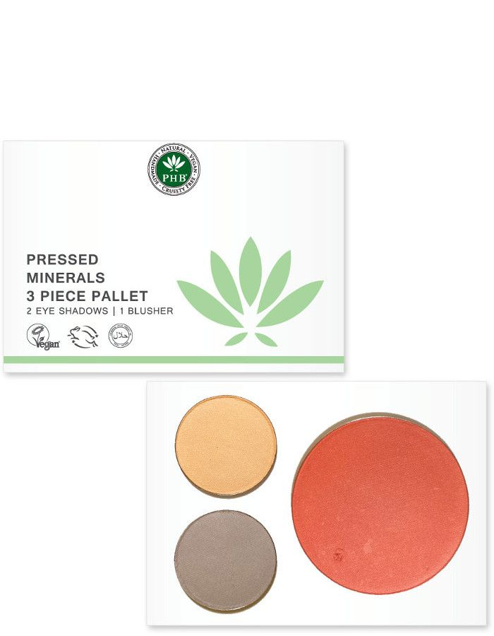 PHB Ethical Beauty Pressed Mineral 3 Piece Palettes Day