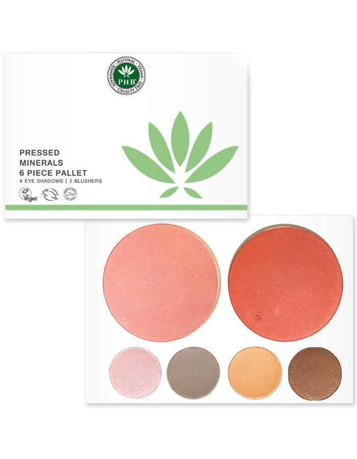 PHB Ethical Beauty Pressed Mineral 6 Piece Palettes Day