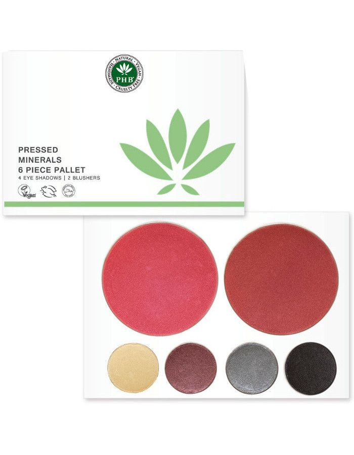 PHB Ethical Beauty Pressed Mineral 6 Piece Palettes Night