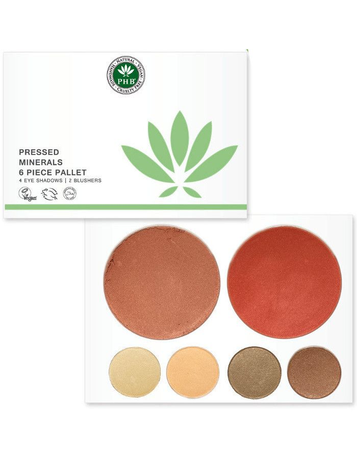 PHB Ethical Beauty Pressed Mineral 6 Piece Palettes Nudes