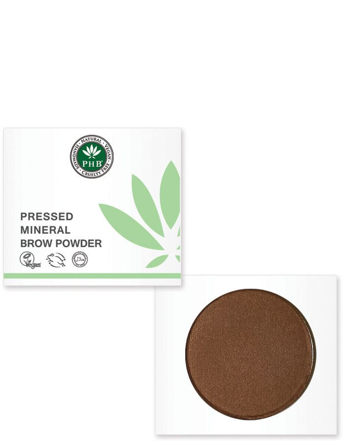 PHB Ethical Beauty Pressed Mineral Wenkbrauw Poeder Brunette
