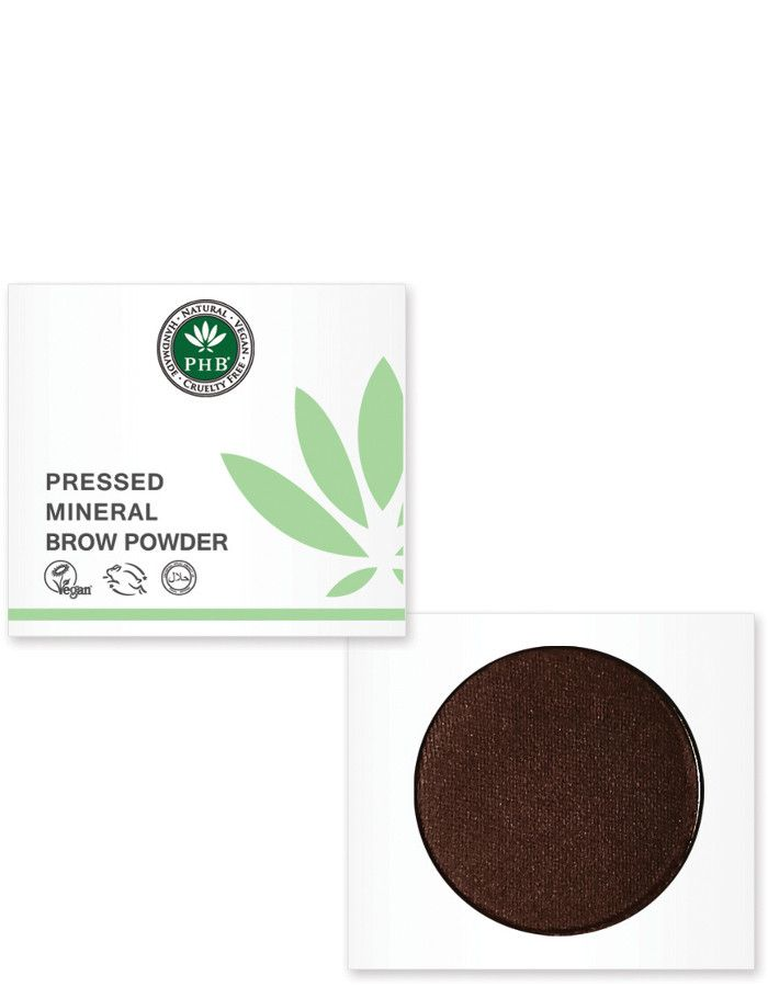 PHB Ethical Beauty Pressed Mineral Wenkbrauw Poeder Raven
