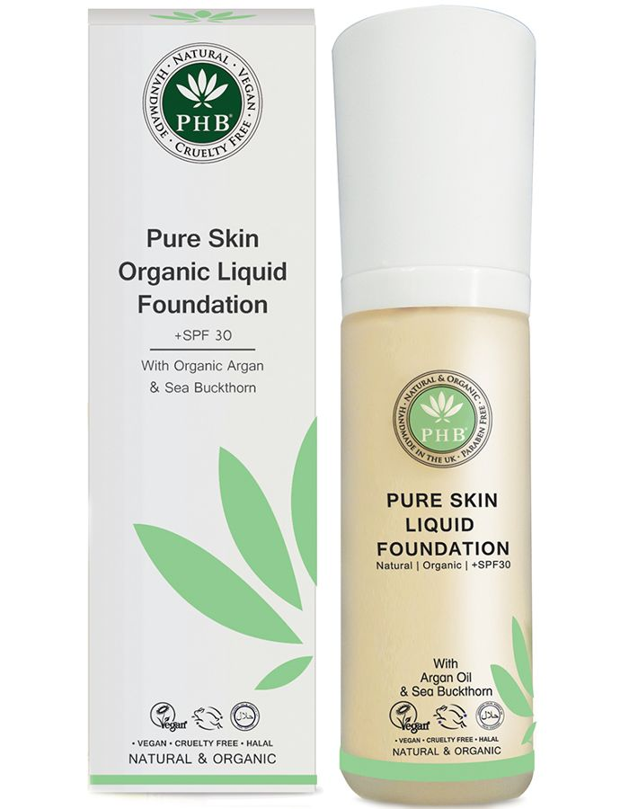 PHB Ethical Beauty Pure Skin Liquid Organic Foundation Spf30 Cream