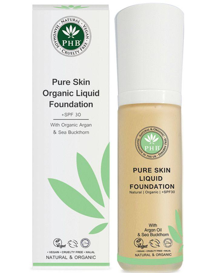 PHB Ethical Beauty Pure Skin Liquid Organic Foundation Spf30 Medium Rose