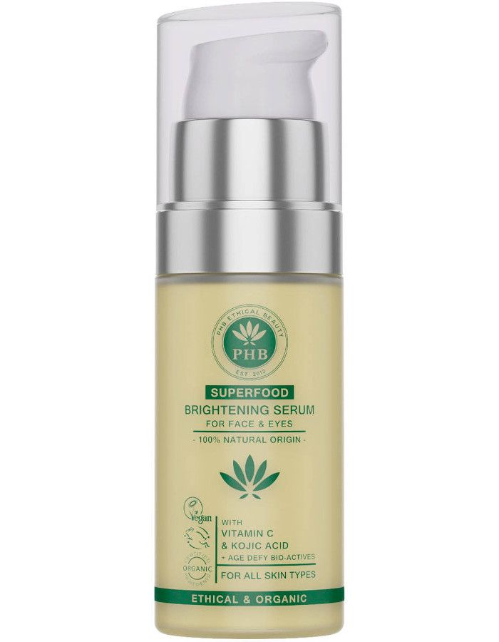 PHB Ethical Beauty Superfood Brightening Serum Face & Eyes 30ml