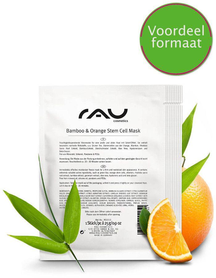 Rau Cosmetics Bamboo En Orange Stem Cell Masker Voordeelformaat 10x3ml