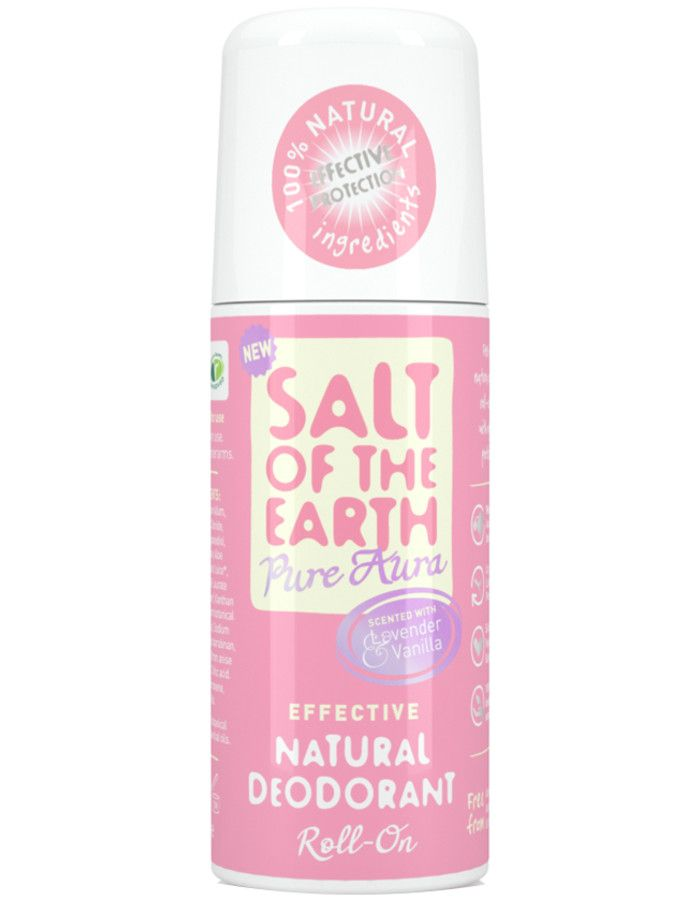 Salt Of The Earth Deodorant Roller Pure Aura Lavendel Vanille 75ml