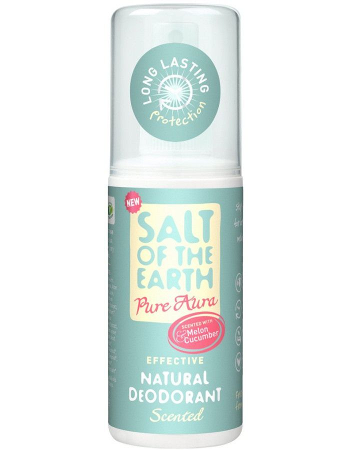 Salt Of The Earth Deodorant Spray Pure Aura Melon Cucumber 100ml