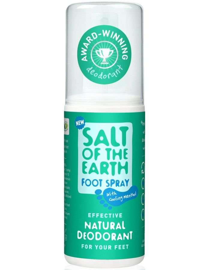 Salt Of The Earth Deodorant Voetenspray Met Menthol 100ml