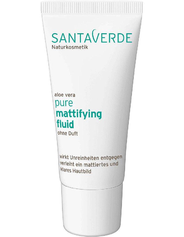 Santaverde Aloe Vera Pure Mattifying Fluid Parfumvrij 30ml