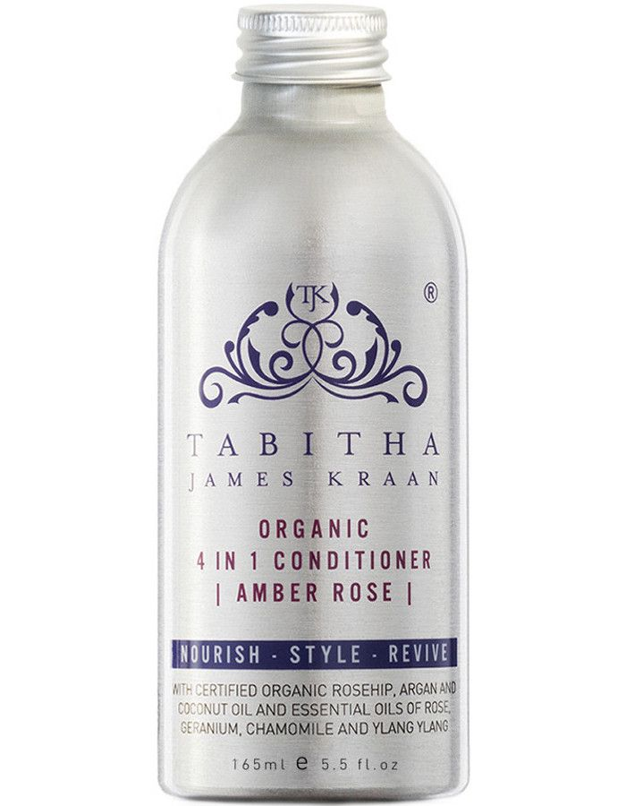 Tabitha James Kraan 4 in 1 Conditioner Amber Rose 165ml Navulling Zonder Pomp