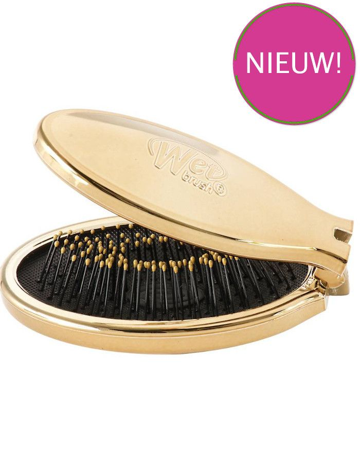The Wet Brush Anti-Klit Haarborstel Mini Pop Fold Gold
