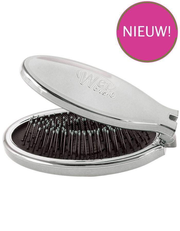 The Wet Brush Anti-Klit Haarborstel Mini Pop Fold Silver