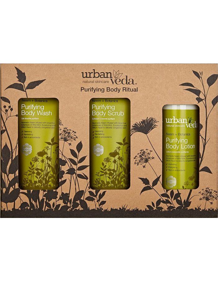Urban Veda Purifying Body Ritual Gift Set 3-Delig
