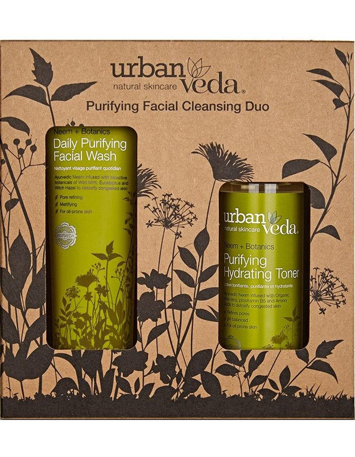 Urban Veda Purifying Facial Cleansing Duo Set 2-Delig