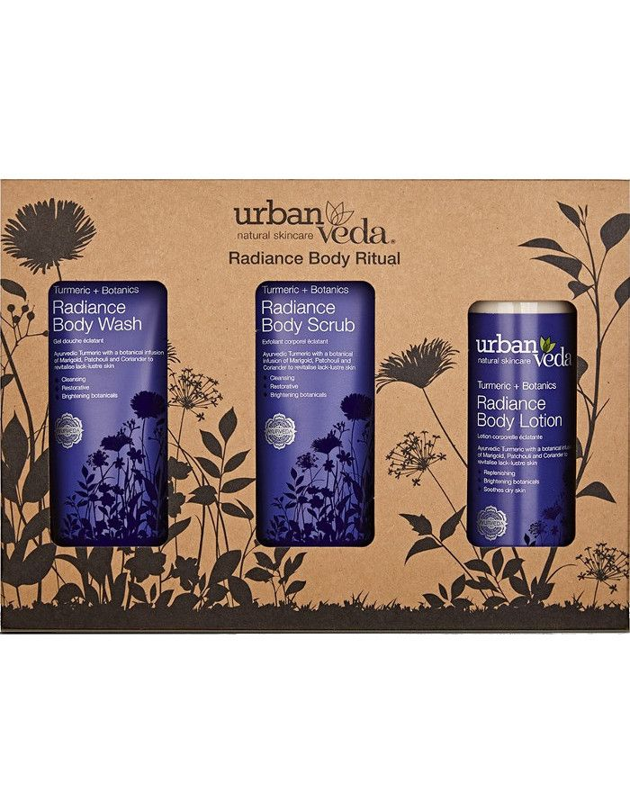 Urban Veda Radiance Body Ritual Gift Set 3-Delig