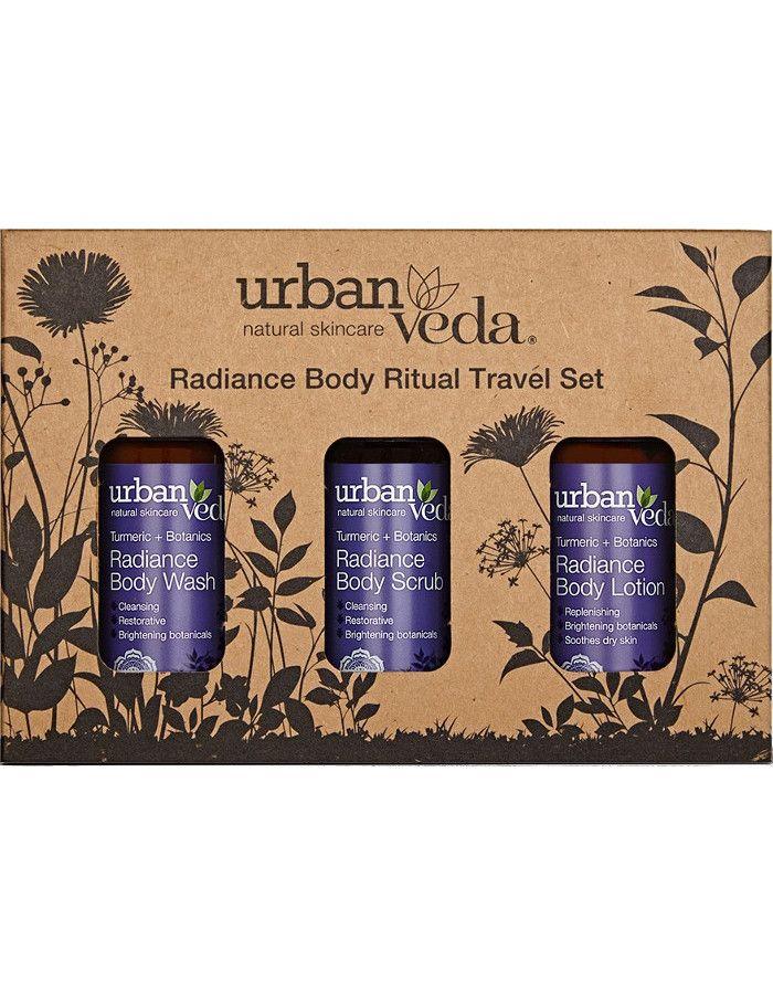Urban Veda Radiance Body Ritual Travel Set 3-Delig