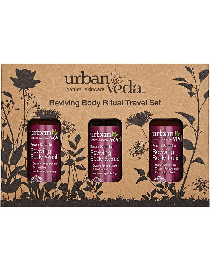 Urban Veda Reviving Body Ritual Travel Set 3-Delig