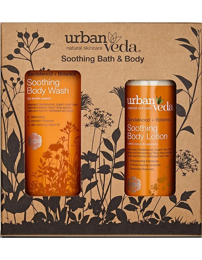 Urban Veda Soothing Bath & Body Gift Set 2-Delig