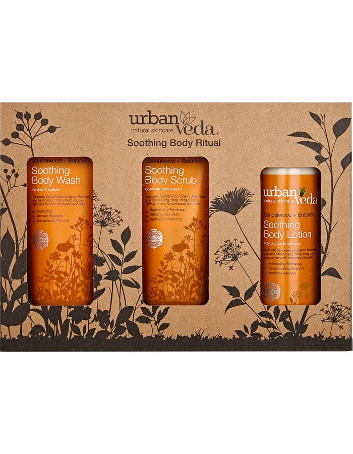 Urban Veda Soothing Body Ritual Gift Set 3-Delig