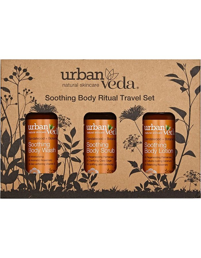 Urban Veda Soothing Body Ritual Travel Set 3-Delig